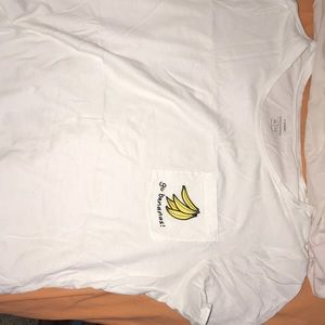 "white old navy ""go bananas!"" t shirt"